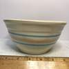 Vintage Pottery Bowl with Pink & Blue Stripes USA