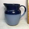 Pretty 2-Tone Blue Pottery Pitcher