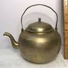 Vintage Teapot with Brass Finish - Made in Korea