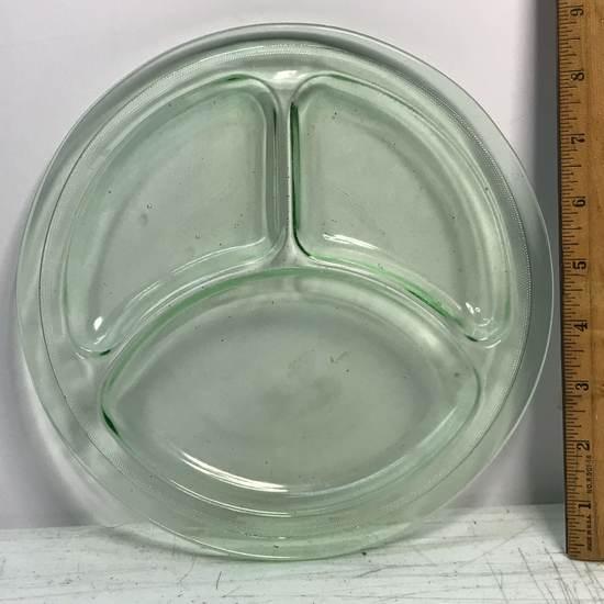 Vintage Vaseline Divided Plate