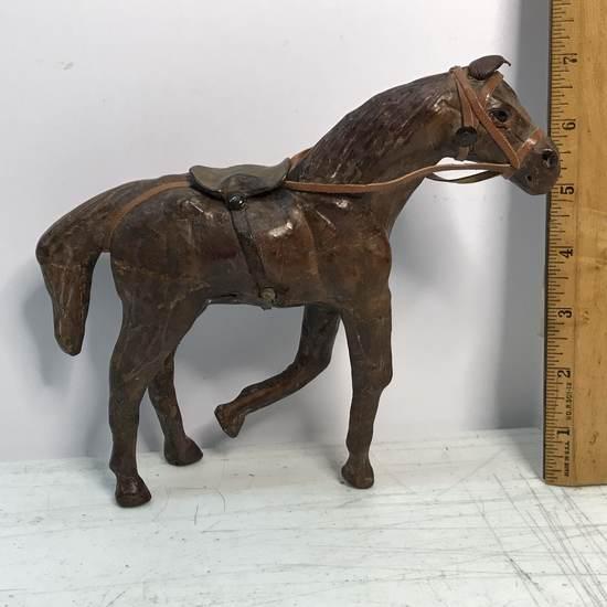 Leather Vintage Horse Figurine
