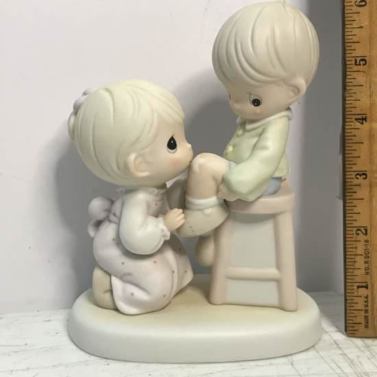 """Precious Moments """"You Are Always There For Me"""" Porcelain Figurine with Box"""