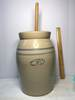 Vintage Marshall Large Pottery Churn with Top & Dasher