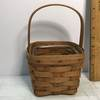 1992 Small Longaberger Basket with Plastic Insert Signed on Bottom