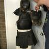 19th Century Japanese Kendo Fighting Outfit with Helmet, Breast Plate, skirt & gloves
