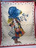 1970's Holly Hobbie Hand Made Quilted Throw