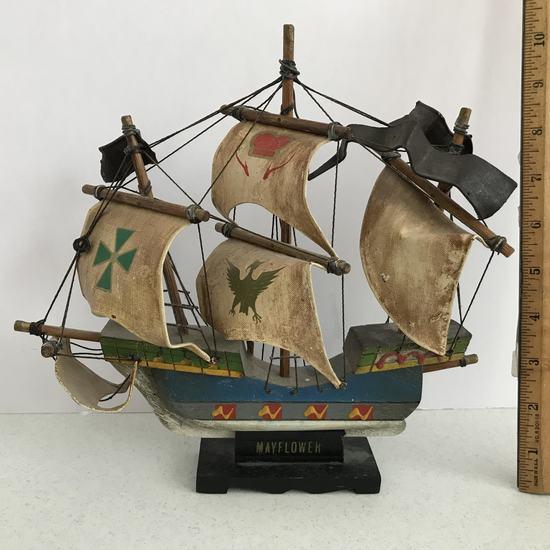 """Mayflower"" Wooden Ship Replica"