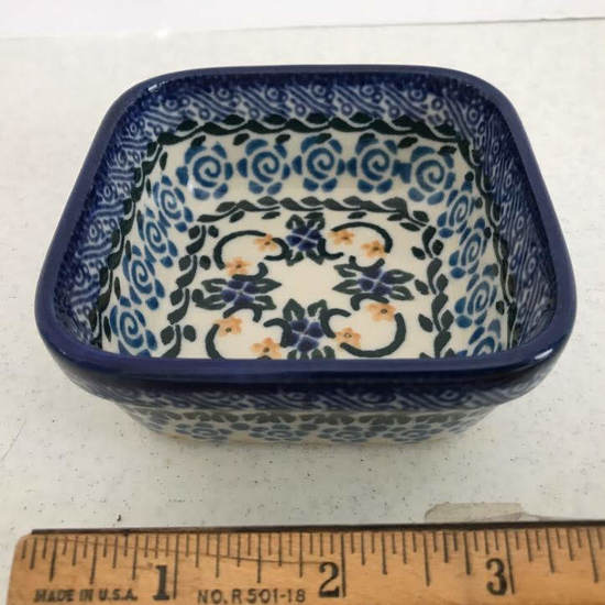 Hand Made Square Dish - Made in Poland