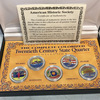 The Complete Colorized Twentieth Century State Quarter Collection in Case with COA