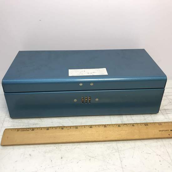 Blue Locking Combination Storage Box