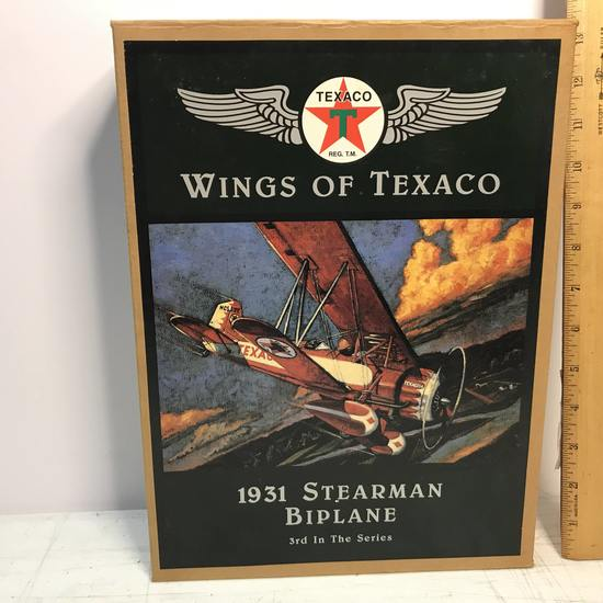 Die Cast Texaco Wings of Texaco 1931 Stearman Biplane 3rd in Series in Box