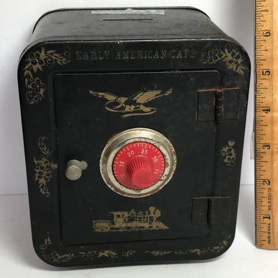 Vintage Combination Safe Bank with Combination