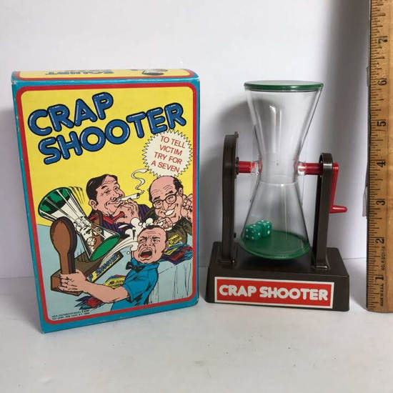 "1982 ""Squirt Crap Shooter"" Novelty Gag with Original Box"