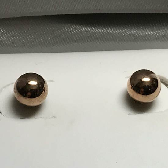 Rose Gold Plated Sterling Silver Freshwater Pearl Earrings