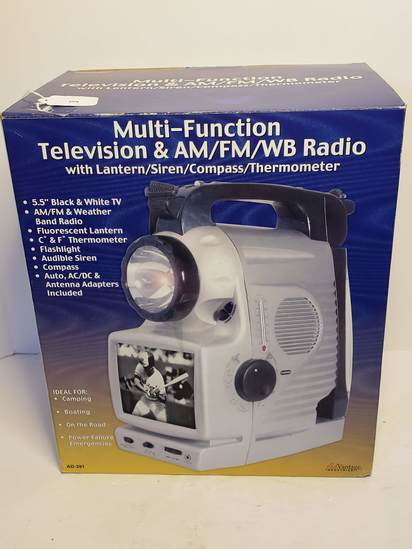 Advantage Industries Multi-Function Television & Am/FM/WB Radio with Lantern, compass & Thermometer