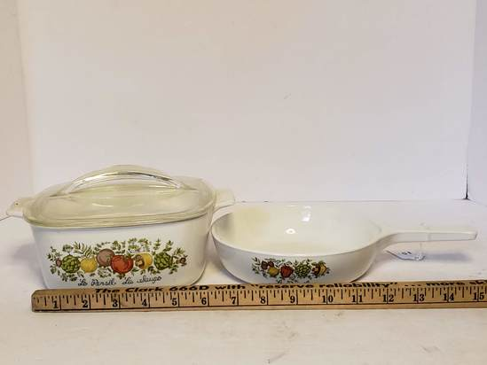 Lot of Corning Ware w/Spice of Life Pattern