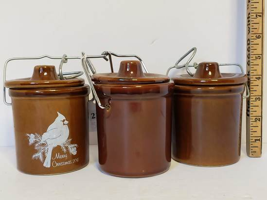 Lot of Pottery Canning Jars