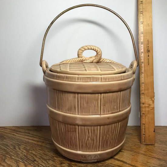 Vintage USA Pottery Cookie Jar with Lid - McCoy?