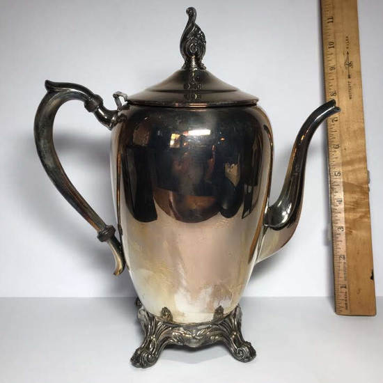 Vintage Silver Plated F. B. Rogers Silver Co. Lidded Teapot