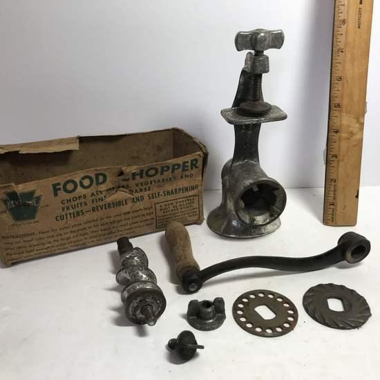 Old Keystone Food Chopper/Grinder with Original Box