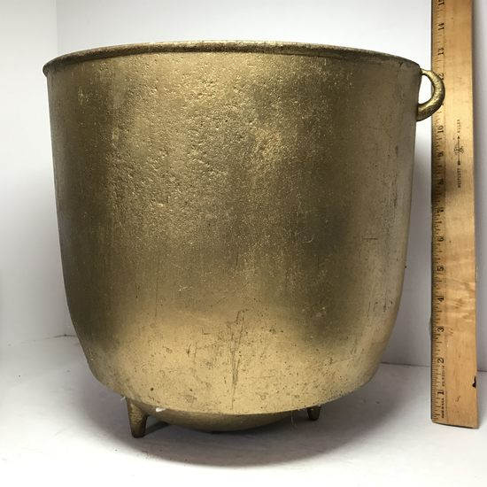Vintage Cast Iron Footed Ash Bucket with Double Handles