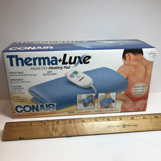 Therma-Luxe Moist/Dry Heating Pad with Auto-Off by Conair - Moist Heat-Washable - In Box
