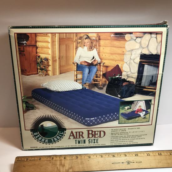 Ozark Trail Twin Size Blue Air Bed - In Box