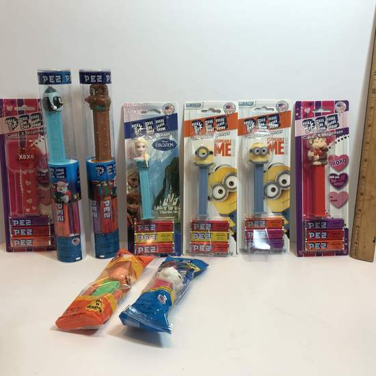 Lot of Collectible PEZ Dispensers