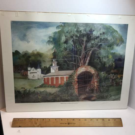 """""""Holly Springs, an Historical Perspective"""" Numbered Print 119/300 by Jenn Souther Jones"""