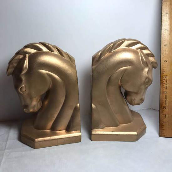 1969 Ceramic Horse Heads Bookends