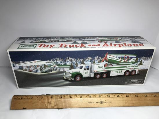 2002 HESS Toy Truck and Airplane - Never Used- In Box