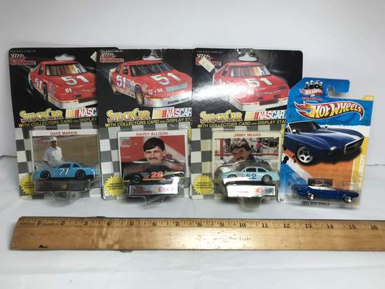Lot of Racing Champions NASCAR & Hot Wheels Die-Cast Cars in Packages