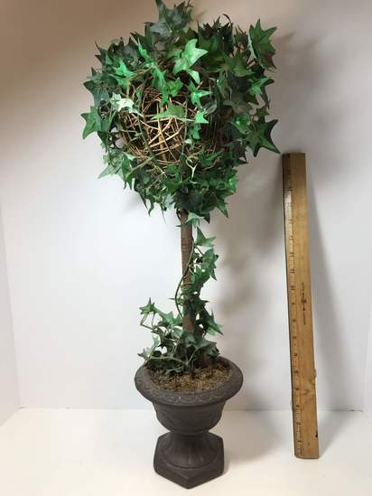 Artificial Vine Wrapped Topiary in Ceramic Planter