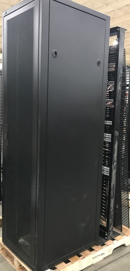B-Line Server Cabinet with CAT 5E Patch Panels