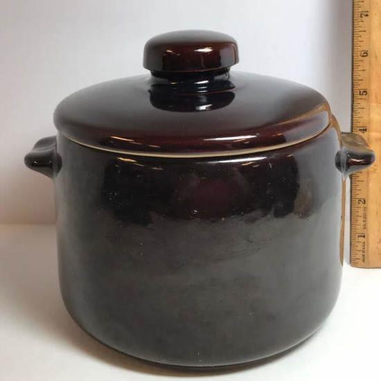 Vintage West Bend Stoneware Bean Pot
