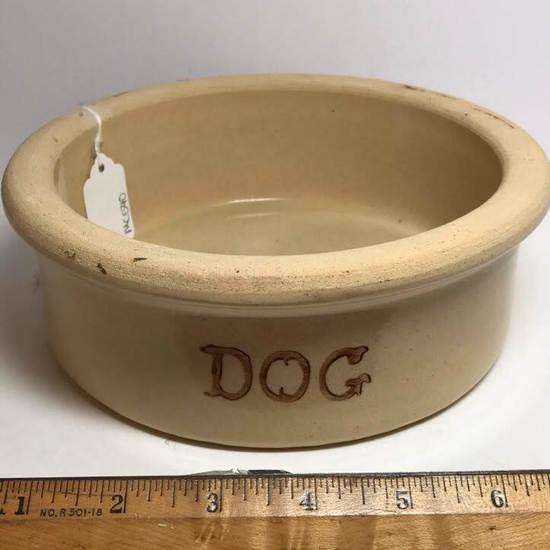 Roseville Ohio Pottery Dog Bowl