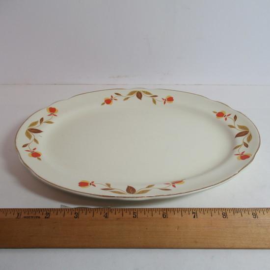 """Hall Jewel Tea """"Autumn Leaf"""" Small Oval Platter"""