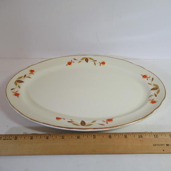 """Hall Jewel Tea """"Autumn Leaf"""" Large Oval Platter"""