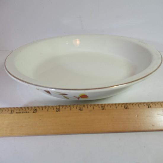 """Hall Jewel Tea """"Autumn Leaf"""" Pie Plate"""