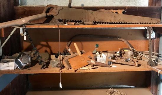 Amazing Lot of Primitives, Vintage Tools, Hardware & More!