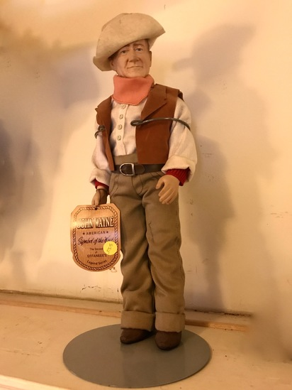 1981 John Wayne American Symbol of the West Effanbee's Legend Series Collectible Doll on Stand w/Tag