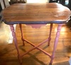 Small Vintage Wooden Painted Side Table