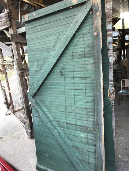 Hard to Find Old Warehouse Sliding Wood Barn Style Door