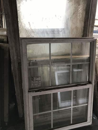Lot of Various Size Vintage Windows