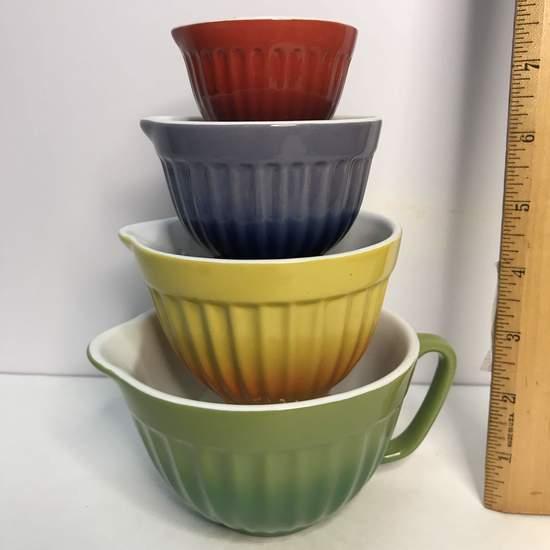 Set of 4 Cooks Tools Ceramic Measuring Cups