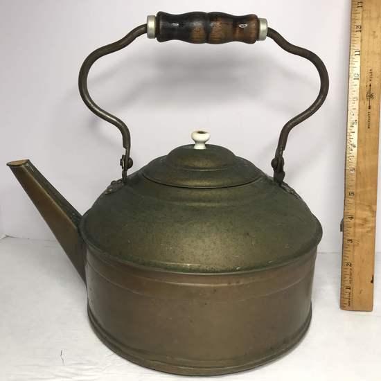 Vintage Large Copper Tea Kettle