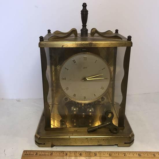 Vintage Brass Schatz & Sons Germany 1000 Day Anniversary Clock