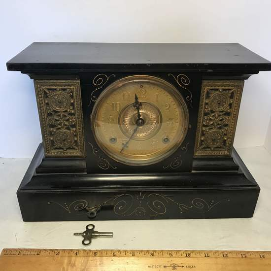 Antique Ansonia Clock Co. Mantle Clock Pat'd June 18, 1882 with Key- works