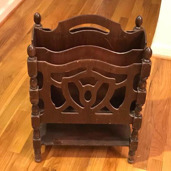 Vintage Wooden Canterbury