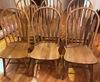 Set of 6 Oak Arrow Back Dining Chairs